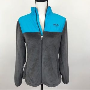 Fila sport blue/gray zip up Jacket S